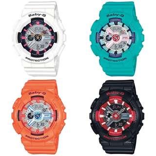 深水步有門市 全新原裝正版正貨有保養有單 Casio 手錶 BABY-G BA-110SN