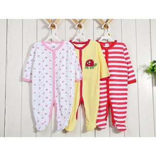 3 Pcs Baby Sleepsuit