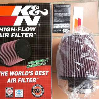 """Made in USA 3"""" K&N Cone Air filter"""