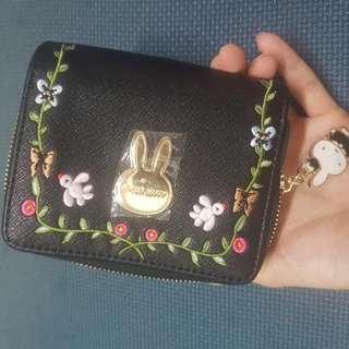 BNWT Miffy Black Wallet