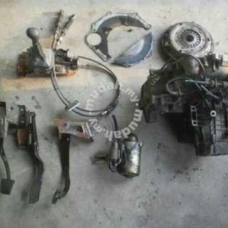 Set Gear Box Auto Satria 1.5 4g91