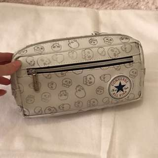 90%off Converse All Star Chuck Taylor White and silver skeletons pencil case