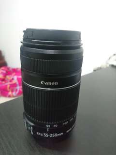 Canon EFS 55-250mm f4-5.6 zoom lens