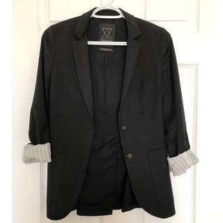 Tailored Talula Blazer (Charcoal Black)