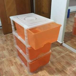 3 tier plastic drawers