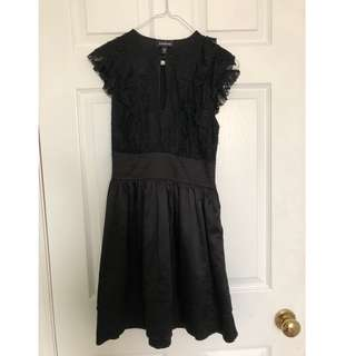 Little Black Party Dress (Black Lace/Satin)
