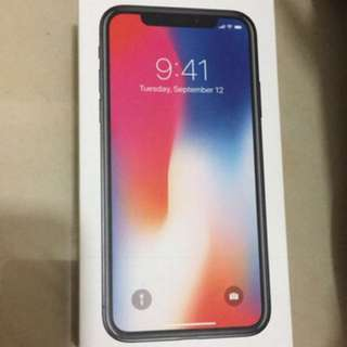 IPhone X silver 256G brand new