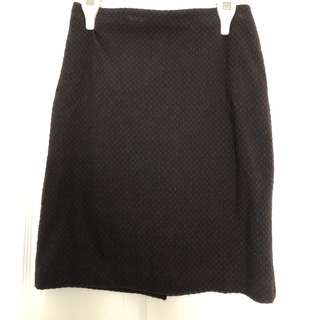 Classic Business Skirt (Black/Red)