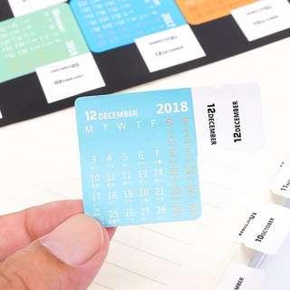 2018 Calendar Stickers 📆 (2 sheets)