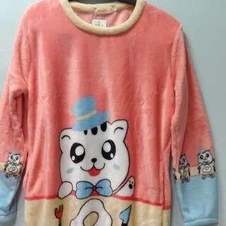 貓咪法蘭絨睡衣居家服