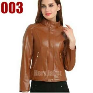 Jaket Model Terbaru/Jaket Semi Kulit Wanita Korea Style/Jaket Kulit Sintetis/Jaket Motor