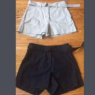 Aritzia Babaton Belted Shorts