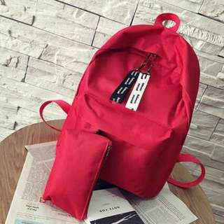 In stock Korea Designed Red backpack