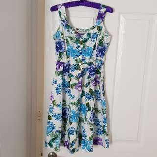 Tree Of Life Floral Summer Dress