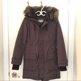 Aritzia Grey Down Parka Jacket 🧥