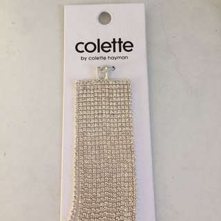 Colette crystal statement multi row dia chain ww nickel compliant