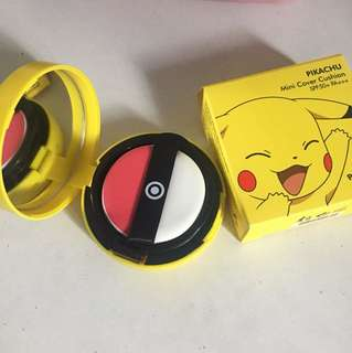 Tonymoly pokemon pikachu mini cover cushion blush in 02