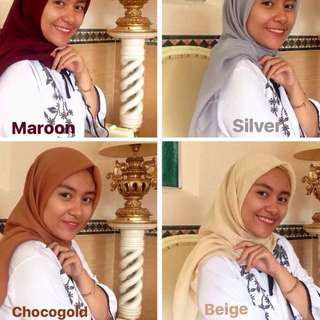 Bella square / poton / polycotton square / jilbab polycotton / double hycon
