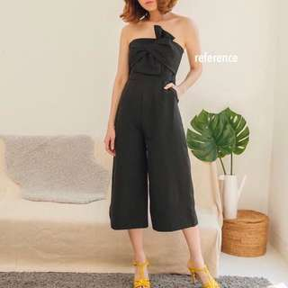 Bow tube jumpsuit