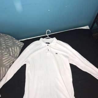 White long sleeve stussy shirt