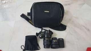 Nikon D40x + 18-55mm lens + 35mm AF-S 1.8G