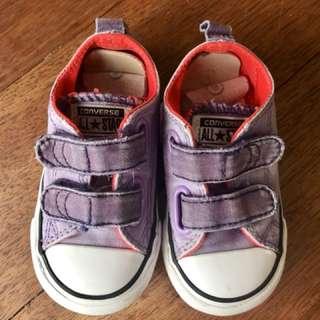 Purple Converse All Stars (UK size 5)
