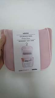 Miniso travel bag pink