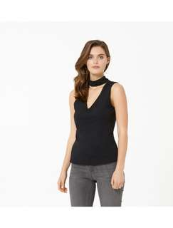 Forever New Black Sleeveless Top
