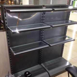 Retail Shop Metal Shelf S$50/set.  Stainless hook S$1/ piece