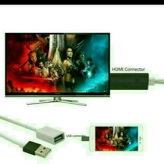 Tv HDMI Cable for iPad, iPhone, Samsung & others Android.