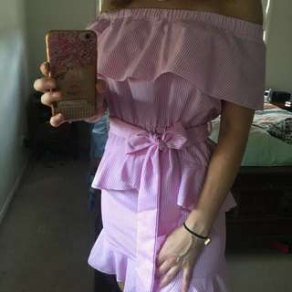 Pretty little things summer pink dress size 8