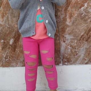 Ripped Jegging Pink