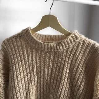 Korean Style Oversized Knit Sweater