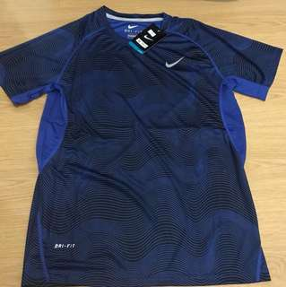 Nike Dri-Fit Top for Men - Blue (Large)