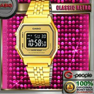 ☺☺☺6折全新行貨卡西歐女装防水数字鋼錶-40% Off Brand New Original Casio Ladies Water Resistance Analog Metal Watch