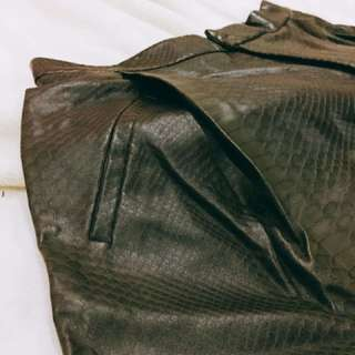 Zara Faux Snake/Alligator Skin Shorts