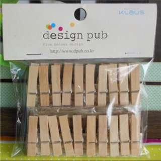 Wooden Clip Set