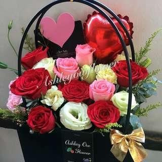Rose Bouquet flower fresh flower bag