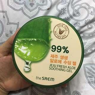 The saem 99% jeju fresh aloe vera soothing gel preloved