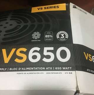 Corsair VS650, 650w PSU