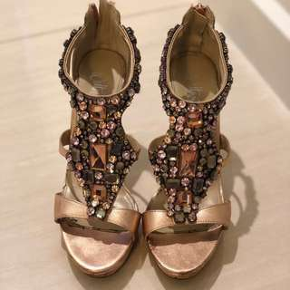 Rose Gold Blink-Blink Dance Heels 💃