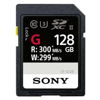 全新 Sony SF-G128 128GB Memory Card 記憶卡 原廠公司貨