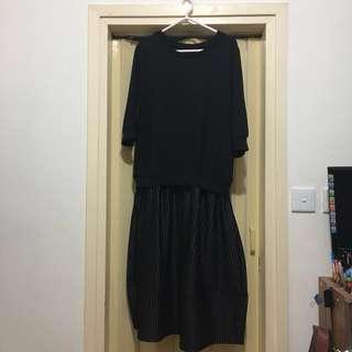 🎉Black dress 黑色間條連身裙🎉👗