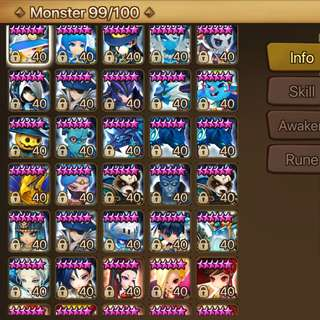 Selling top tier Asia summoners war account