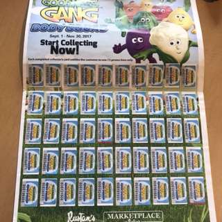 Complete stickers to claim goodness gang plush toy