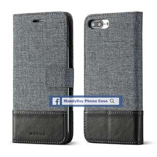 特別款式 出口品質 MUXMA iPhone 6 帆布 插卡 座台 超薄 手機皮套