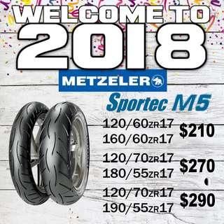 Metzeler M5 Promotion 2018