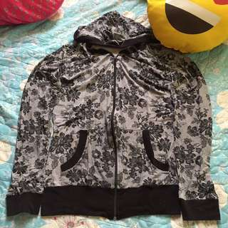 BnW floral jacket