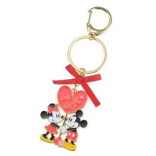 日本 Disney Store 直送米奇米妮 Mickey & Minnie 情人節掛飾匙扣