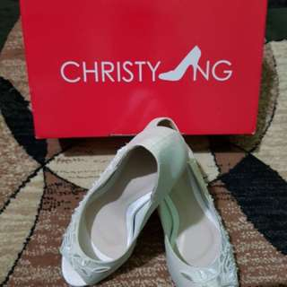 Christy Ng Wedding Shoe Off White